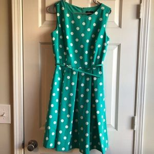 Turquoise Polka Dot Dress
